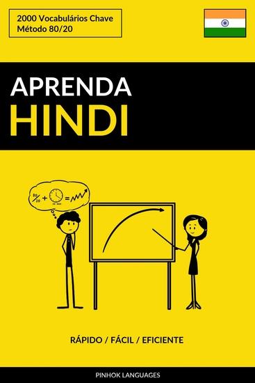 Aprenda Hindi - Rápido Fácil Eficiente - 2000 Vocabulários Chave - cover