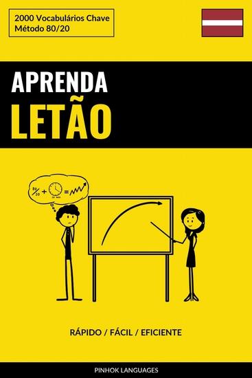 Aprenda Letão - Rápido Fácil Eficiente - 2000 Vocabulários Chave - cover
