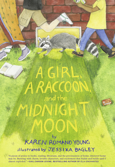A Girl a Raccoon and the Midnight Moon - cover