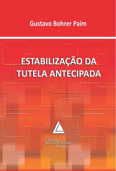 Estabilização Da Tutela Antecipada - cover