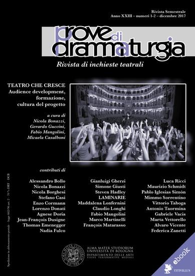 Prove di Drammaturgia n 1-2 2017 - Teatro che cresce Audience development formazione cultura del progetto - cover