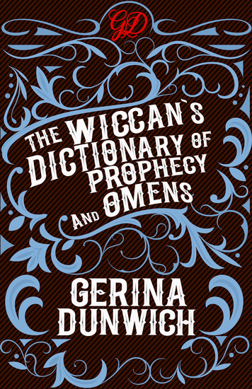 The Wiccan's Dictionary of Prophecy and Omens - cover