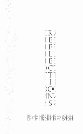 Reflections - Poetic Thoughts of Essence - cover