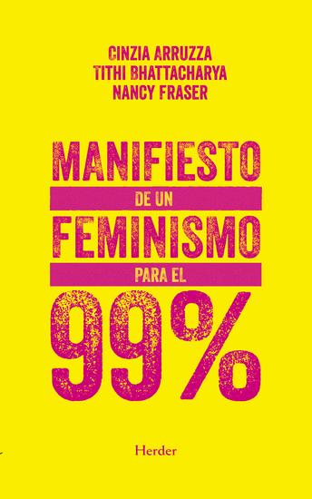 Manifiesto de un feminismo para el 99% - cover