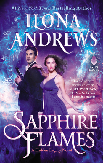 Sapphire Flames - A Hidden Legacy Novel - cover
