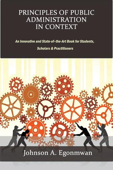 Principles of Public Administration in Context - cover