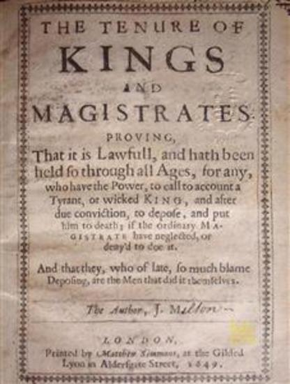 The Tenure of Kings and Magistrates - cover