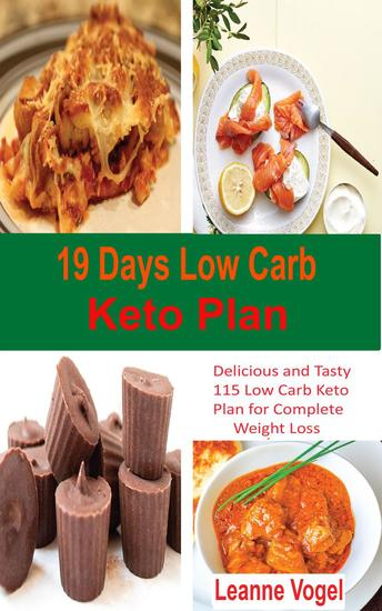 19 Days Low Carb Keto Plan - cover