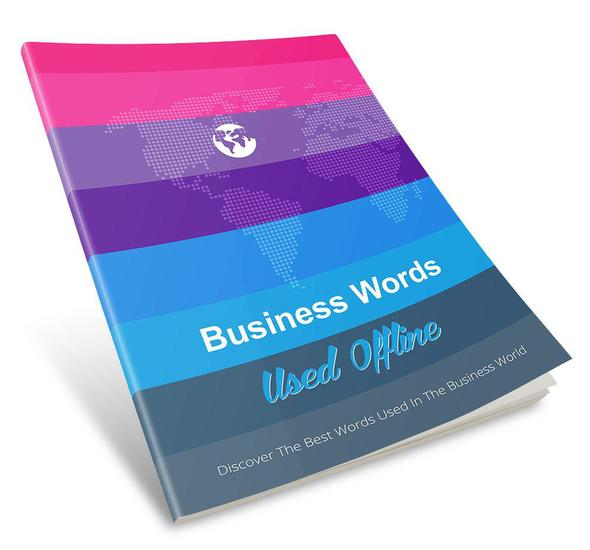 Business Words Used Offline - cover