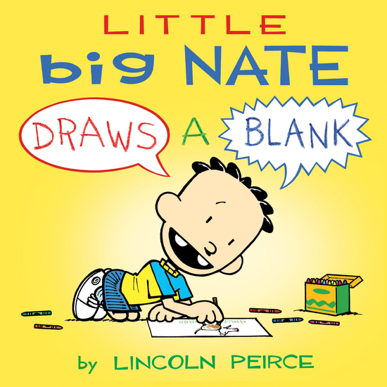 Little Big Nate - Draws A Blank - cover