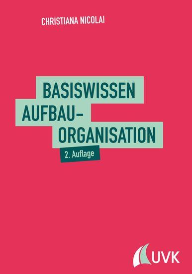 Basiswissen Aufbauorganisation - cover