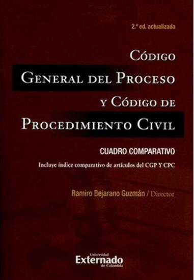Código General del Proceso y Código de Procedimiento Civil: Cuadro comparativo - cover