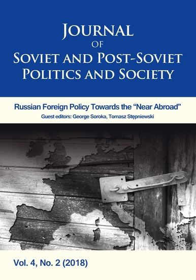Journal of Soviet and Post-Soviet Politics and Society - 2019 1 - cover