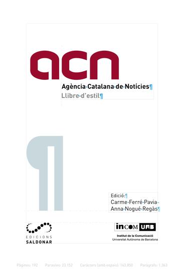 Llibre d'estil de l'ACN - cover