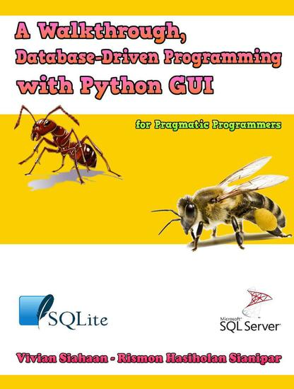 A Walkthrough Database-Driven Programming with Python Gui for Pragmatic Programmers - cover