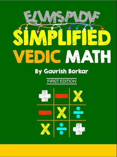 Simplified Vedic Math - Vedic Math #1 - cover