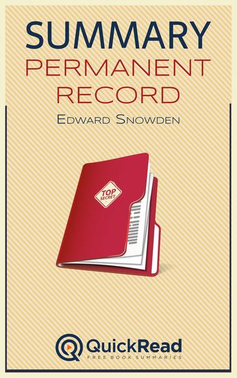 "Summary of ""Permanent Record"" by Edward Snowden - cover"