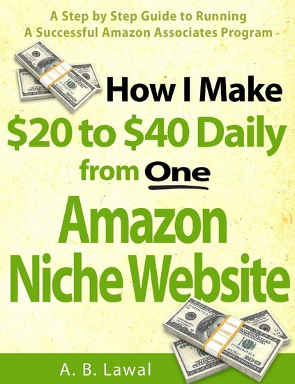 How I Make 20 to 40 Daily from One Amazon Niche Website - A Step by Step Guide to Running A Successful Amazon Associates Program - cover