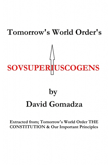 Tomorrow's World Order's Sovsuperiuscogens - cover