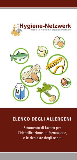 Elenco Degli Allergeni - Strumento di lavoro per l'identificazione la formazione e le richieste degli ospiti - cover