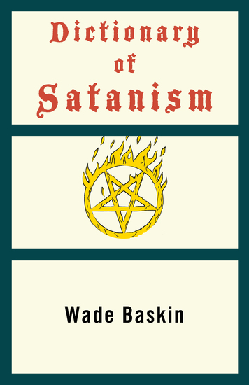 Dictionary of Satanism - cover
