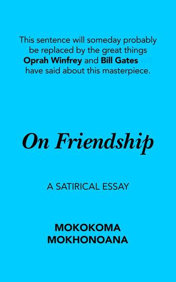 On Friendship: A Satirical Essay - cover