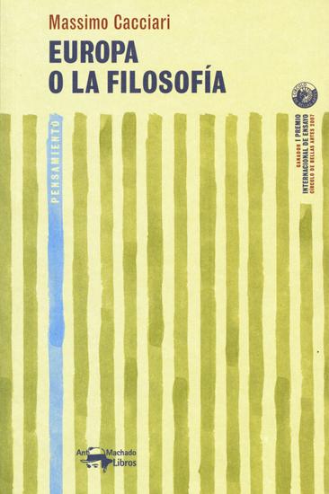 Europa o la filosofía - cover