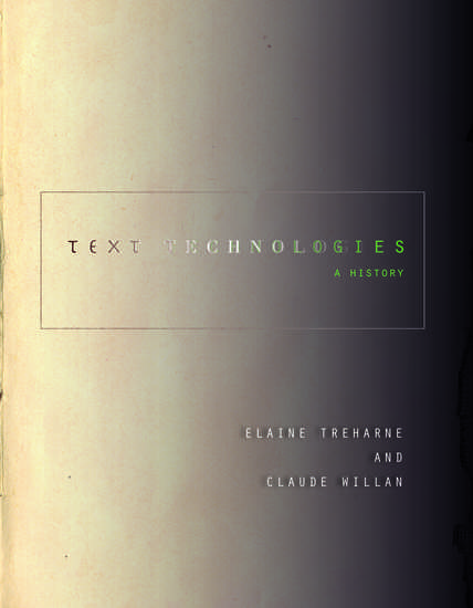 Text Technologies - A History - cover