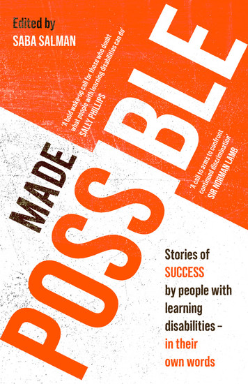 Made Possible - Stories of success by people with learning disabilities – in their own words - cover