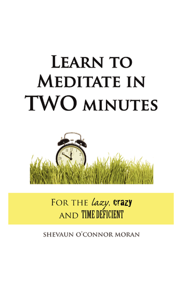 Learn to Meditate in 2 Minutes - For the Lazy Crazy and Time Deficient - cover
