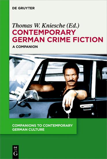 Contemporary German Crime Fiction - A Companion - cover