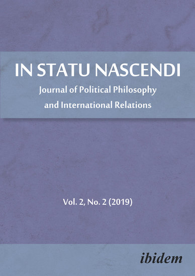 In Statu Nascendi - Journal of Political Philosophy and International Relations 2019 2 - cover