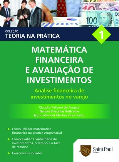Matemática financeira e avaliação de investimentos Vol 1 - Análise Financeira de Investimentos no Varejo - cover