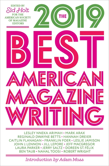 The Best American Magazine Writing 2019 - cover