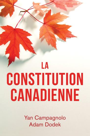 La Constitution canadienne - cover