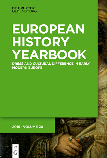 Dress and Cultural Difference in Early Modern Europe - cover
