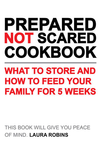 Prepared-Not-Scared Cookbook - What to Store and How to Feed Your Family for Five Weeks - cover