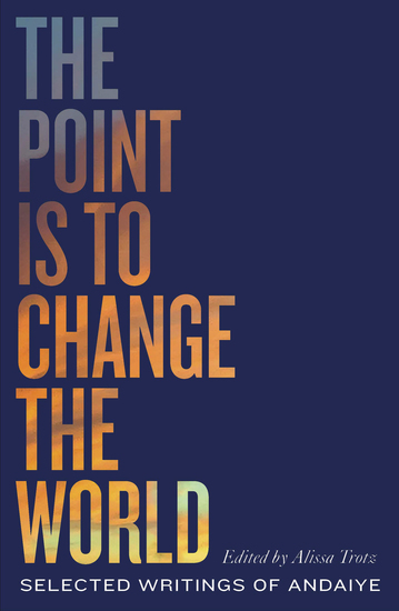 The Point is to Change the World - Selected Writings of Andaiye - cover