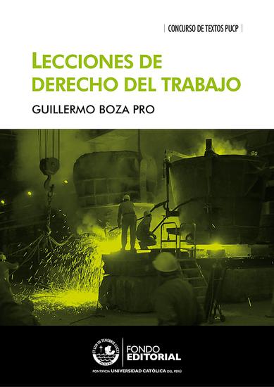 Lecciones de derecho del trabajo - cover