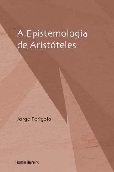 A epistemologia de Aristóteles - cover