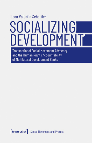 Socializing Development - Transnational Social Movement Advocacy and the Human Rights Accountability of Multilateral Development Banks - cover