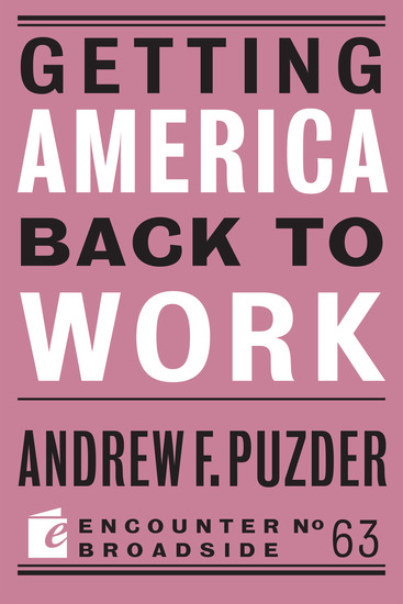 Getting America Back to Work - cover