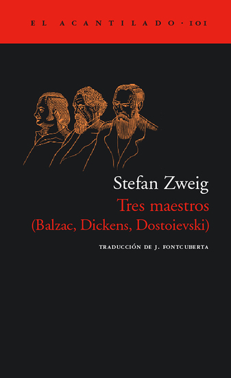 Tres maestros - (Balzac Dickens Dostoievski) - cover