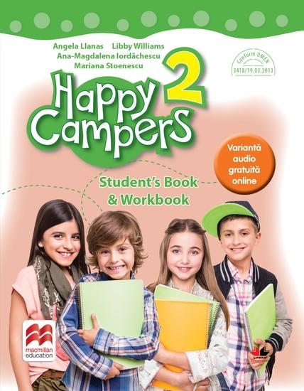 Happy Campers Student Book Workbook Clasa a II-a - cover