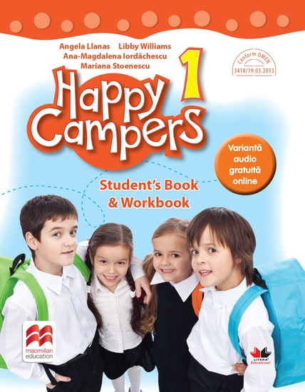 Happy Campers Student Book Workbook Clasa I - cover