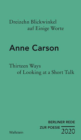Dreizehn Blickwinkel auf Einige Worte Thirteen Ways of Looking at a Short Talk - cover