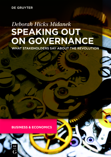 Speaking Out on Governance - What Stakeholders Say About the Revolution - cover