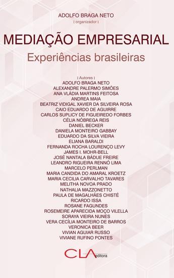 Mediação empresarial: experiências brasileiras - cover