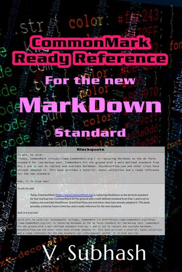 CommonMark Ready Reference - cover