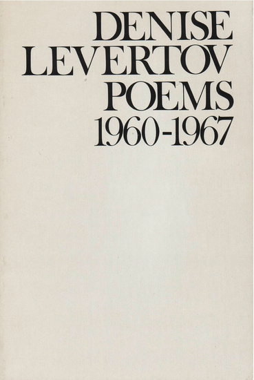 Poems of Denise Levertov 1960-1967 - cover
